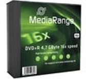 DVD+R MediaRange 4.7GB 5pcs Pack 16x Slimcase