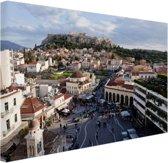 FotoCadeau.nl - Monastiraki plein Athene Canvas 60x40 cm - Foto print op Canvas schilderij (Wanddecoratie)