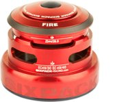 Sixpack Fire 2In1 Balhoofdlager ZS44/28.6 I EC49/30 and ZS44/28.6 I EC49/40 rood