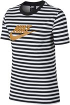 Nike Nsw Ss La Dames T-shirt - White/Black - Maat M