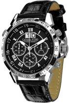 Calvaneo 1583 Calvaneo Astonia Chrono One Steel Black Horloge 46mm - 46 mm - Leer
