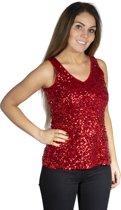 Pailletten hemdje / top rood