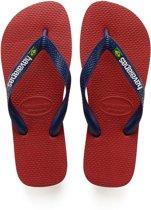 Havaianas Brasil Logo Slippers Unisex - Red - Maat 37/38