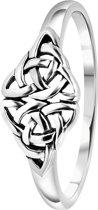 Zilveren ring bewerkt Bali
