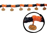 Halloween Slinger Pompoen met onderhangers 3 meter
