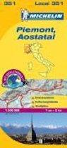 Michelin Lokalkarte Piemont-Aostatal 1 : 200 000