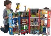 KidKraft Everyday Heroes Houten Speelset brandweerkazerne en politiebureau met speelfiguren