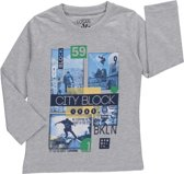 Losan Jongens Shirt Grijs met Skate thema - Maat 92