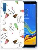 Samsung Galaxy A7 (2018) Siliconen Backcase Design IJsjes