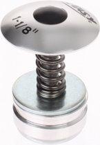 Xtasy Balhoofdplug 1 1/8 inch aluminium zilver
