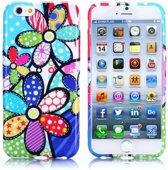 Gel print hoesje iPhone 6 Plus Colorized flowers