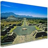 Teotihuacan  Mexico Canvas 180x120 cm - Foto print op Canvas schilderij (Wanddecoratie woonkamer / slaapkamer) XXL / Groot formaat!