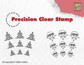 APST026 clear stamps Christmas tree-star mini stempels kerst kerstboom ster