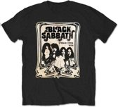 Black Sabbath - World Tour 1978 heren unisex T-shirt zwart - XL
