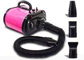 Super Krachtige Hondenföhn 500W-3400W - Waterblazer met Verstelbare Kracht en Temperatuur - Hondenfohn met 2 Motoren en Windsnelheid tot 80M/S - Inclusief 3 Opzetstukken