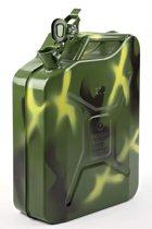 Minalco benzine jerrycan - 20 Ltr metaal - UN goedgekeurd - Camouflage