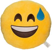Emoji Emoticon Smiley Kussen-Ongemakkelijk