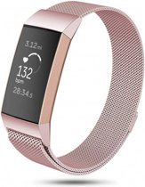123Watches.nl Fitbit charge 3 milanese band - roze - ML