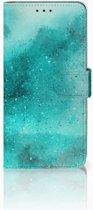 Huawei Mate 20 Lite Uniek Boekhoesje Painting Blue