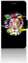 Nokia 6 (2018) Uniek Boekhoesje Lion Color