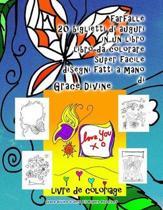 farfalle 20 biglietti di auguri in un libro libro da colorare super facile disegni fatti a mano di Grace Divine