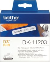 DK-11203 Die-Cut label: 87X17mm - Map label - white (300 labels/roll)