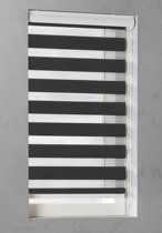 Pure Living - Duo Rolgordijn Lichtdoorlatend - 95x175 cm - Zwart