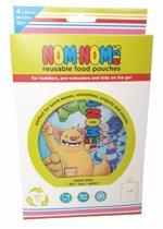 Nom Nom Kids grote Herbruikbare knijpzakjes monsters (4 stuks)