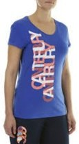 CANTERBURY LAYERED TEXT TEE - 6/2XS - MADISON BLUE