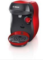 Bosch TAS1003 koffiezetapparaat Vrijstaand Koffiepadmachine Zwart, Rood 0,7 l Volledig automatisch