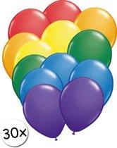 Ballonnen Regenboog 30 stuks 27 cm