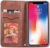 Apple iPhone XS Retro Portemonnee Hoesje Coffee