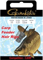 GAMAKATSU BKS-3323B FEEDER HAIR RIGS 40cm Lijn:  0.10 Haak:20
