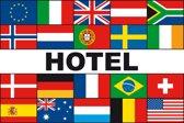 Meerlandenvlag hotel - 150 x 225 cm - Glanspolyester