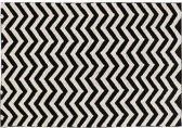 Wasbaar tapijt Zigzag Black - 140x200cm 140 x 200 cm