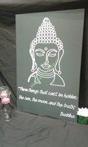 Tekstbord Buddha