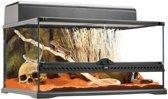 Exo Terra Glas-Terrarium Medium Laag - 60 x 45 x 45 cm - Zwart
