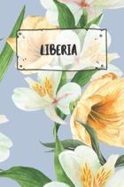 Liberia: Liniertes Reisetagebuch Notizbuch oder Reise Notizheft liniert - Reisen Journal f�r M�nner und Frauen mit Linien