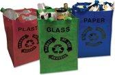 ComfortTrends Tassenset 3 stuks Om afval te sorteren - 31 x 29 x 45 cm