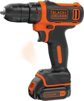 BLACK+DECKER 10.8V Accuschroef-/boormachine BDCDD12 – incl. accu en lader