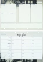 Weekplanner A4 | Losbladig | Voor 55 weken succesvol plannen! | Planningwize | Weekly Planner