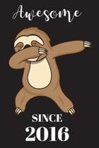 3th Birthday Dabbing Sloth