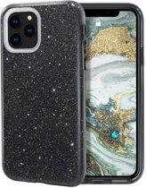 Teleplus iPhone 11 Pro Max Case Silvery Silicone Black hoesje