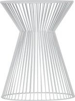WOOOD Suus Bijzettafel - Metaal  - Wit - 46x35x35