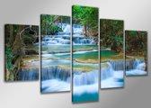 Dream River - Canvas Schilderij Vijfluik 200 x 100 cm