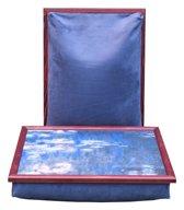 Margot Steel laptray/schoottafel Waterlelies (Claude Monet)  - 41 x 31 x 10 cm