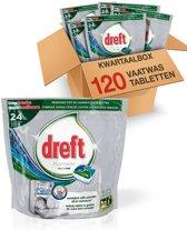 Dreft Platinum Original - Kwartaalbox 120 stuks - Vaatwastabletten