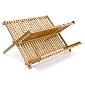 relaxdays afwasrek bamboe - Droogrek afwas 2 etages - Afdruiprek Hout servies
