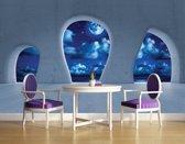 Fotobehang Vlies   Modern, Nacht   Blauw   368x254cm (bxh)