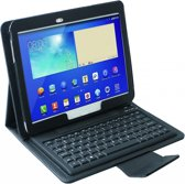 Samsung Galaxy Tab 4 10.1 Siliconen Bluetooth Keyboard Case, Siliconen Toetsenbord, zwart , merk i12Cover